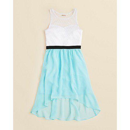 Sally Miller Girls Sleeveless 2-Tone Dress - Size ($68) #sallymiller