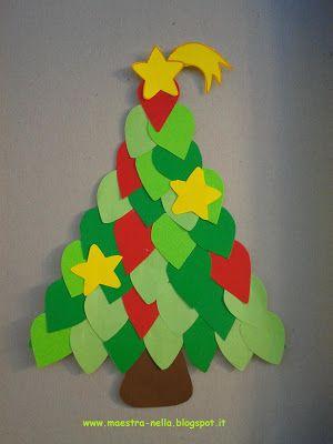 Alberelli Di Natale Lavoretti.Alberelli Di Natale Artigianato Di Natale Fai Da Te Cartoline Di Natale Fatti A Mano Natale Artigianato