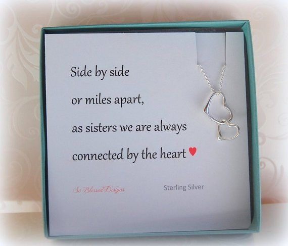 Sister Jewelry Gift Necklace For Card In Law Gifts F