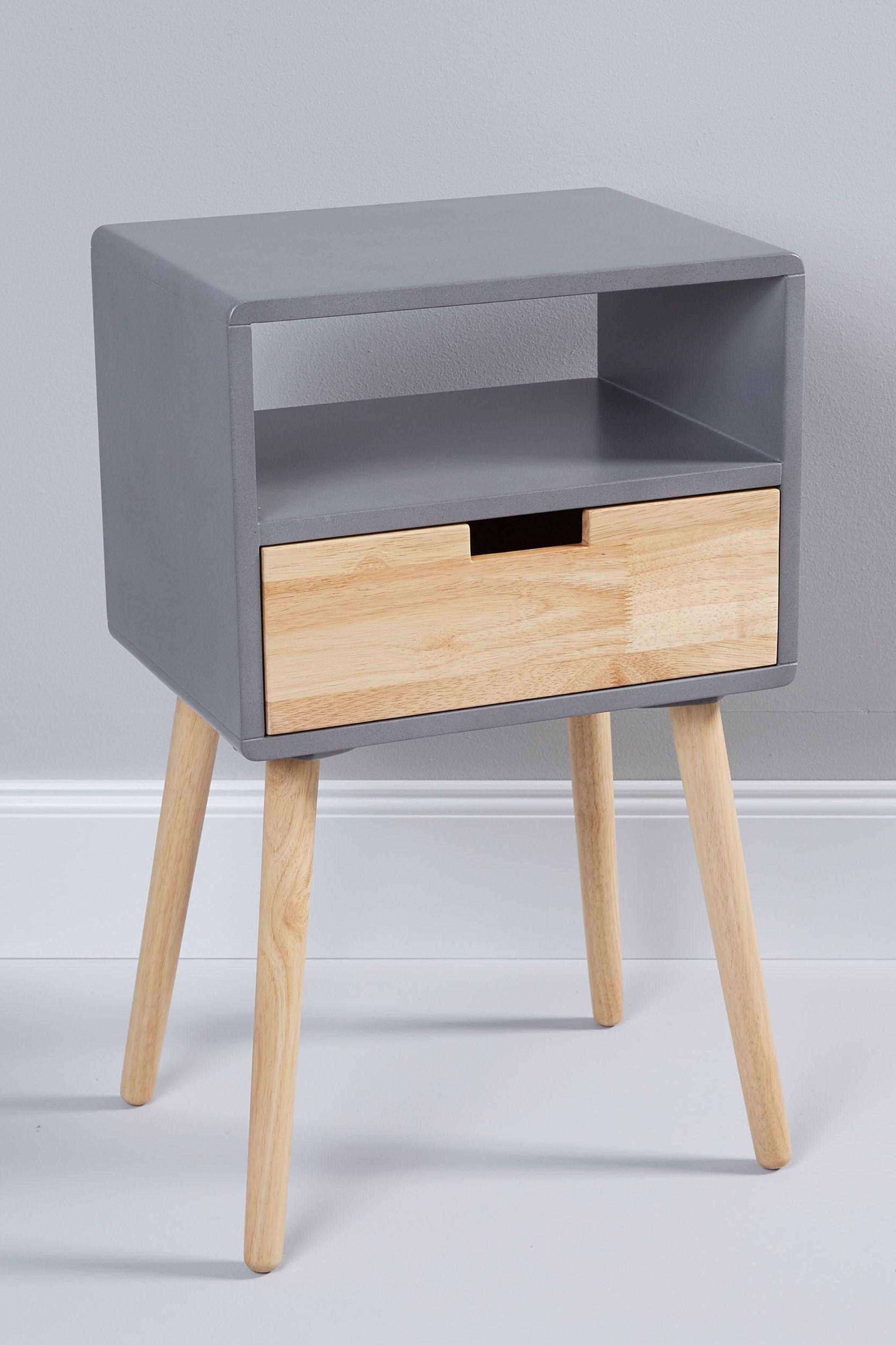 Scandi Beistelltisch Mit Schublade Beistelltisch Mit Schublade Telefontisch Beistelltisch