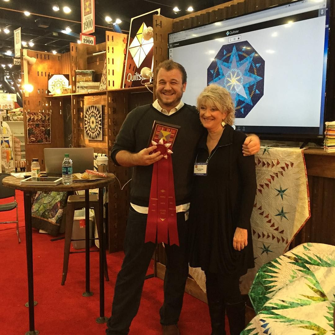 Quiltster wins the second place Best Booth Award for Double Booth! #quiltmarket