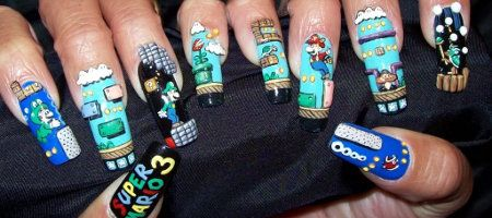 Nerdy Nails Crazy Nails Crazy Nail Art Heart Nail Art