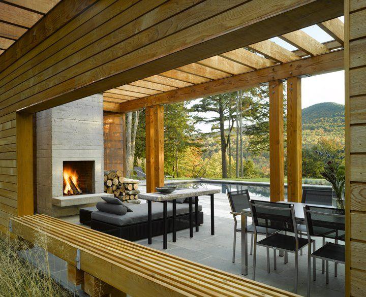 inspiration: modern pool house