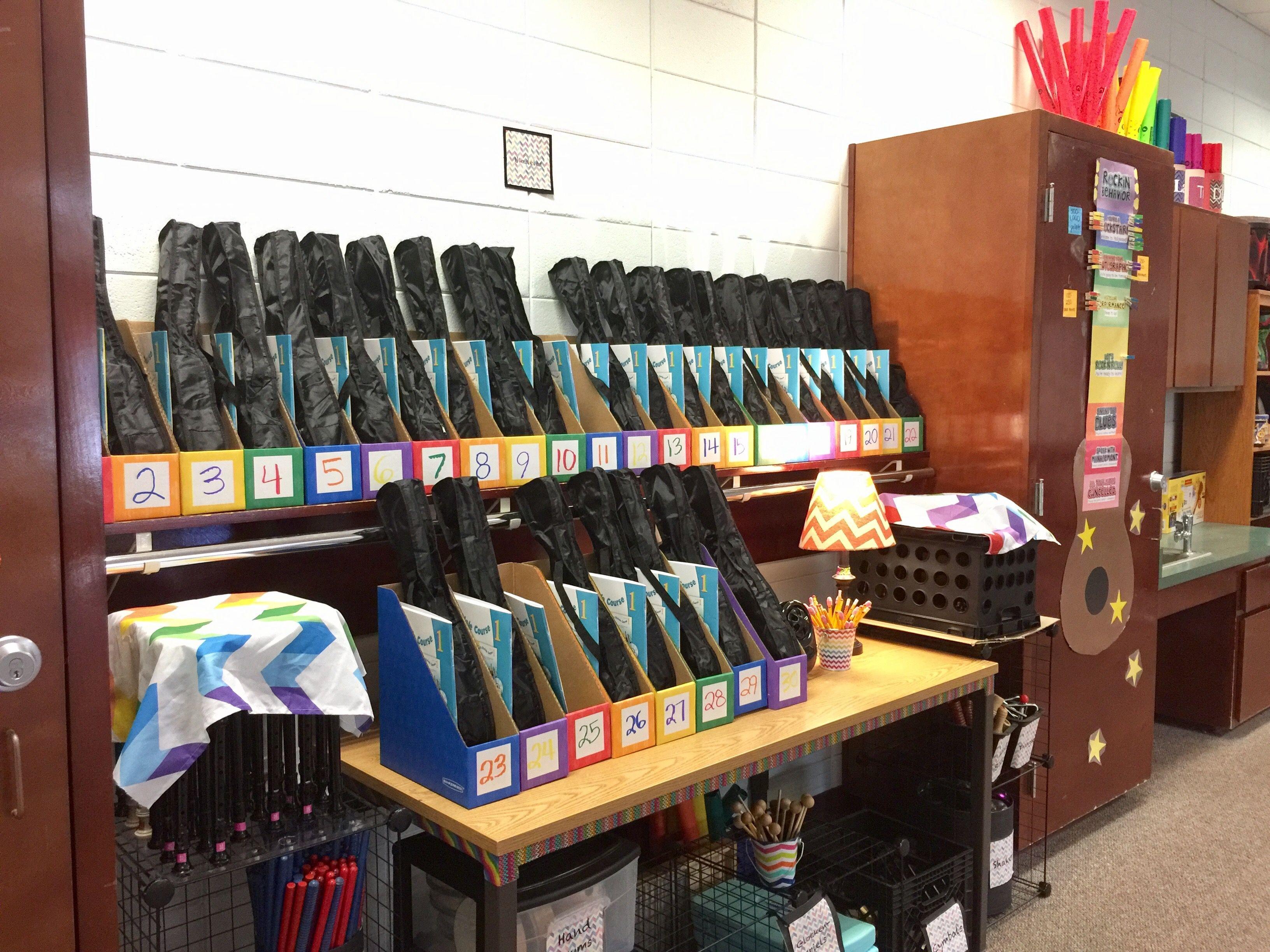 Ukulele Classroom Storage Inexpensive Creative And
