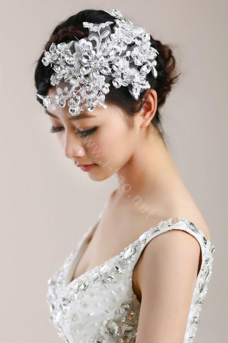 crystal hair jewelry | jewelry crystal flower headband headpiece
