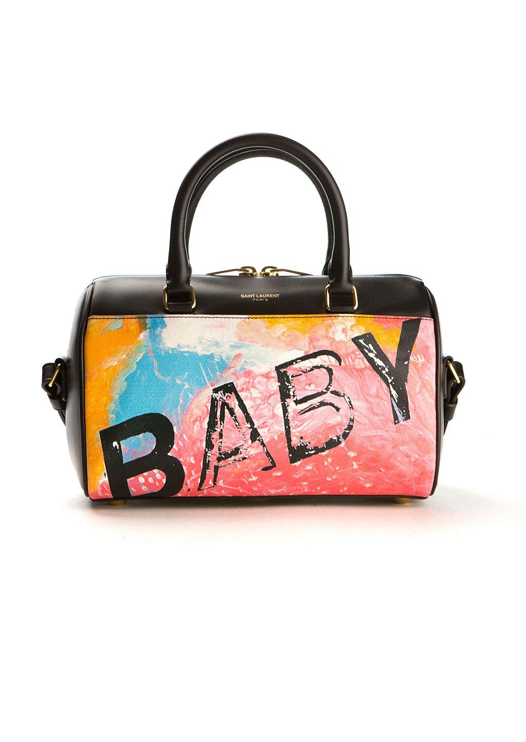 Saint Laurent Sacs à bandoulière :: Sac Baby Duffle en cuir à imprimé Baby Saint Laurent