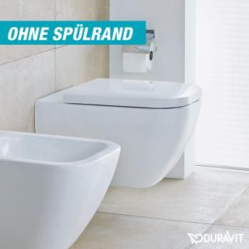 Duravit Happy D2 wall-mounted, washdown toilet W 365 L 62 cm