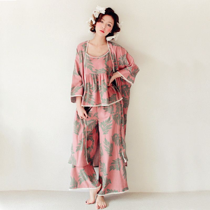 2e13a55c52 women Pajamas Set Spring Autumn new Thin printed Long sleeve cute Sleepwear  Suit Homewear Female pyjamas