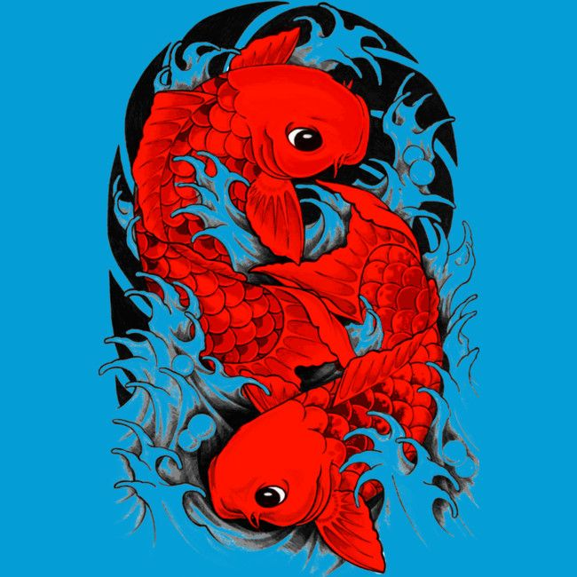 Koi / Carp / Japanese fish is a T Shirt designed by Jetti to illustrate your life and is available at Design By Humans
