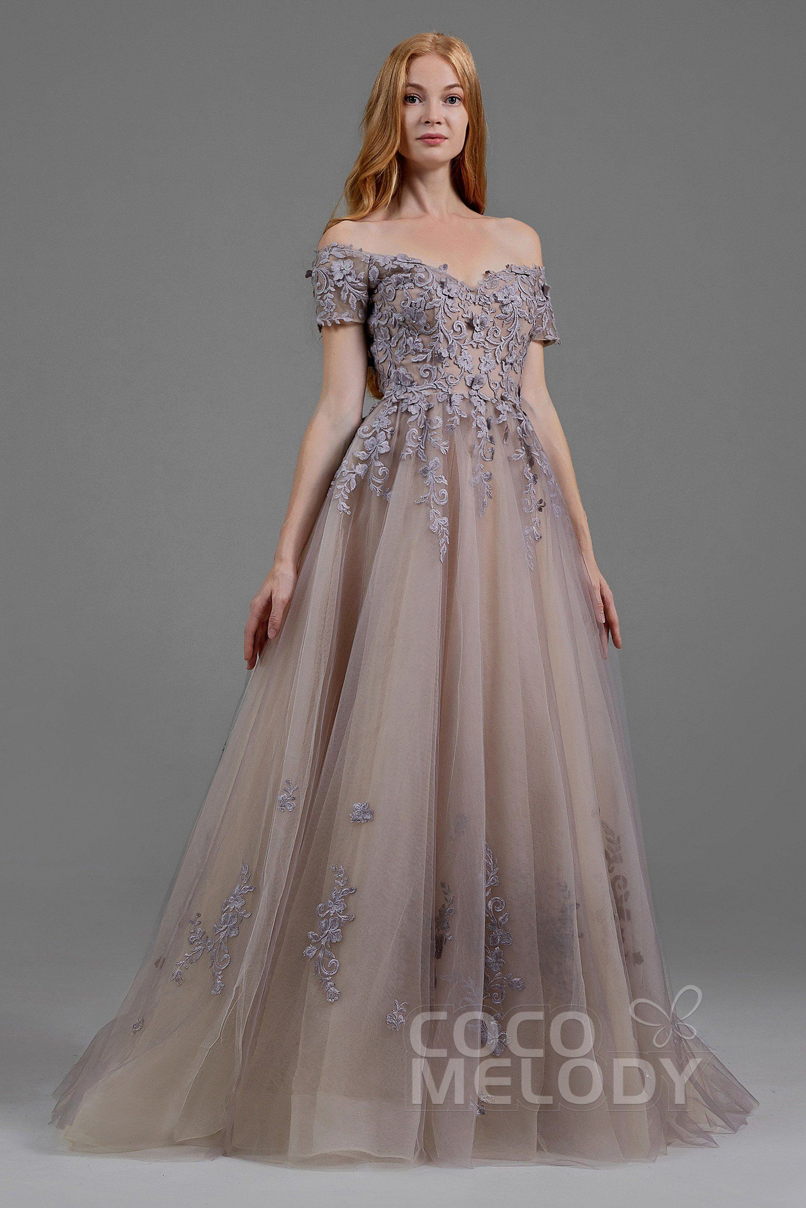ec85045ef62 A-Line Sweep-Brush Train Tulle Gothic Wedding Dress LD5830 in 2019 ...