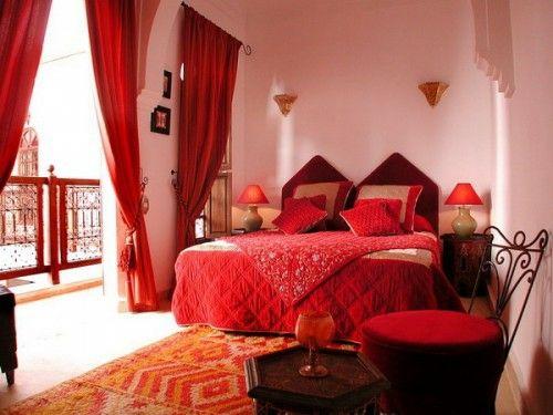 marokkanische schlafzimmer deko ideen - 15 interieurs aus dem ... - Schlafzimmer Deko Rot