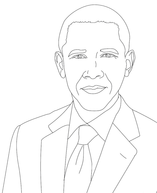 Barack Obama Coloring Pages   Holiday Coloring Pages   Pinterest ...