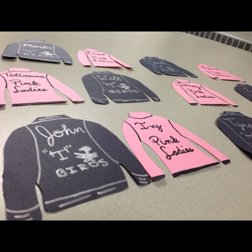 Grease Themed Door Decs for my co-ed freshman floor! Took a lot of time and detail to make these! ?? & Grease Themed Door Decs for my co-ed freshman floor! Took a lot of ...