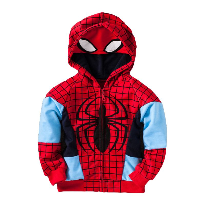 431d7adb462 spiderman clothing for 1-5 yrs kids cotton coat for boys hoodies and  sweatshirts children s