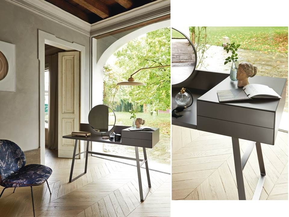 Toeletta e scrittoio segreto con due cassetti e specchio - Mobili con segreto ...