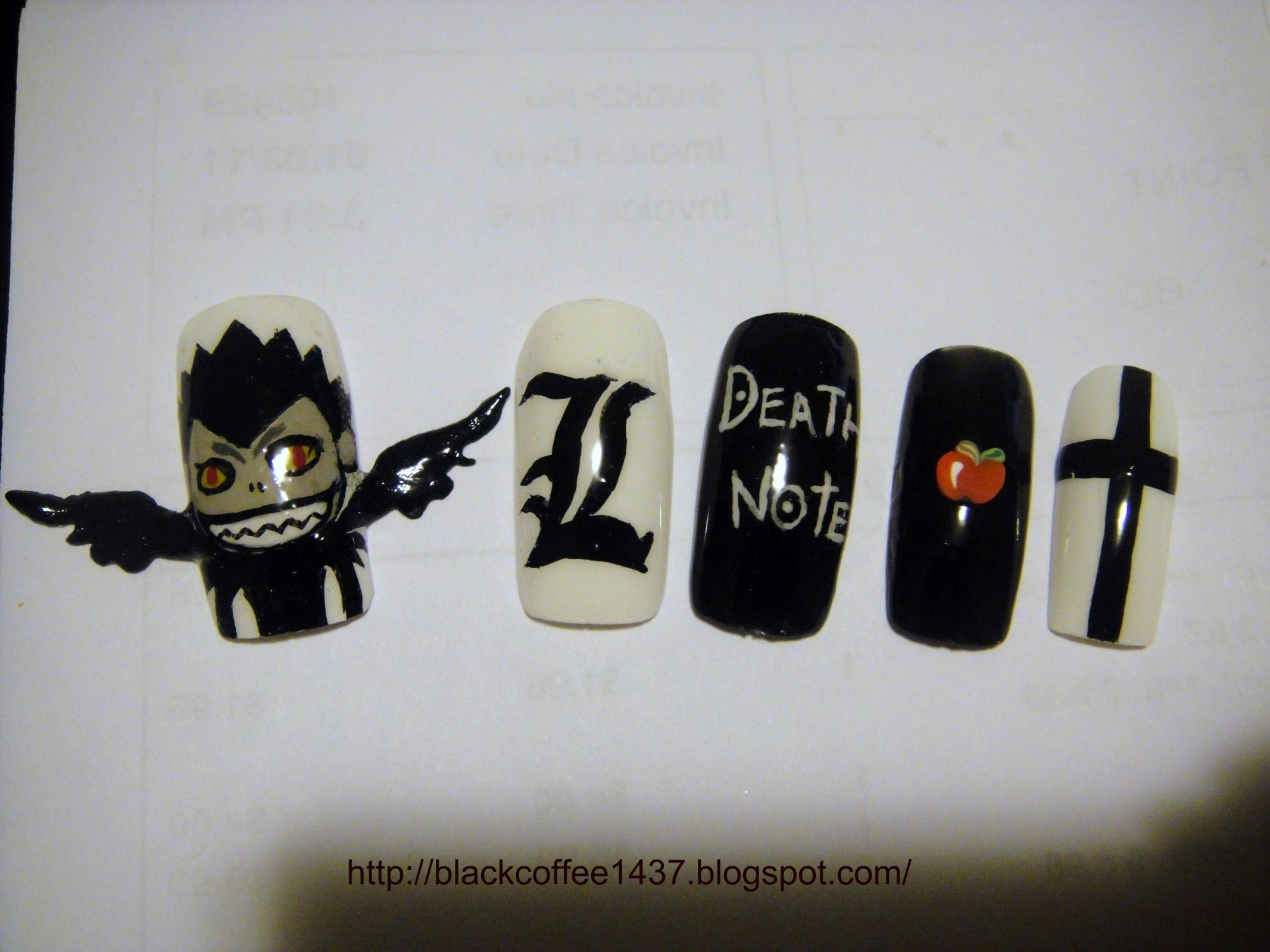 DEATHNOTE! | Nail Art | Pinterest | Death note, Death and Anime