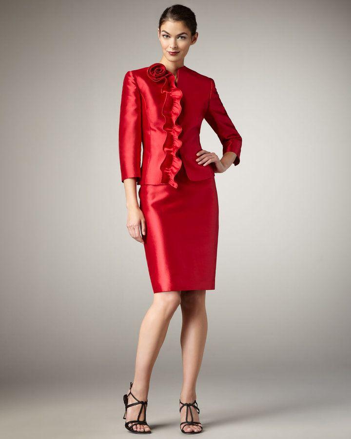 Tahari Suits On Sale Tahari Rosette Detailed Taffeta Suit Tahari