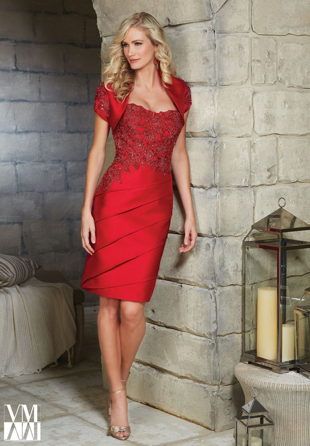 Aliexpress.com : Buy Free Shipping Elegant Knee Length Red ...