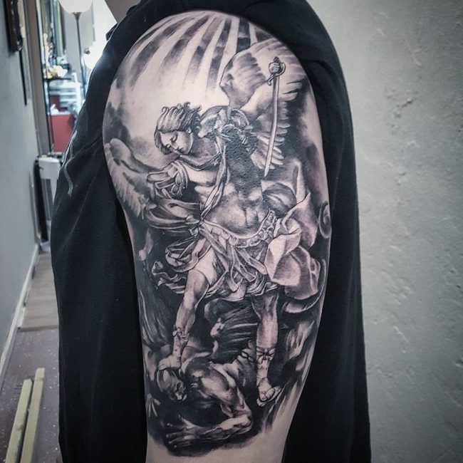 c027cc72c Saint Michael Tattoo 76 | Tattoo | St michael tattoo, Tattoos, St ...