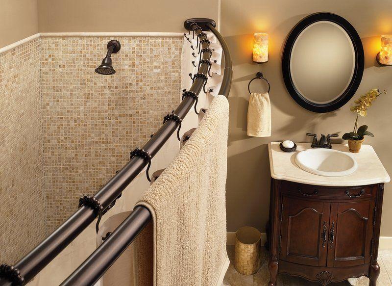 Moen Dn2141 Shower Rod Shower Curtain Rods Double Shower
