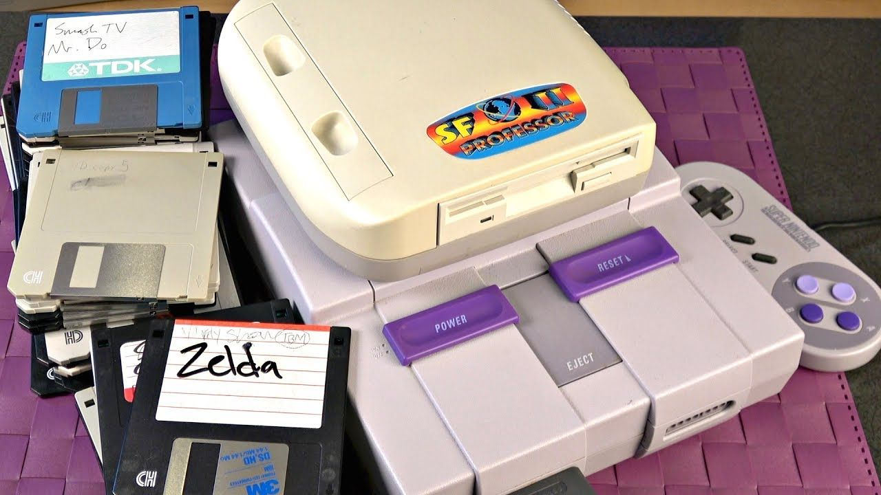 A Super Nintendo (SNES) Floppy drive?! How does it WORK