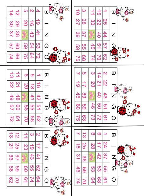 Printable Hello Kitty Bingo | hello kitty party | Pinterest ...