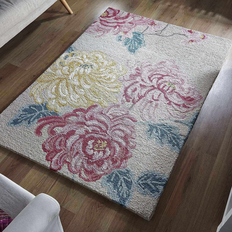 Kyoto Fl Wool Rug Dunelm