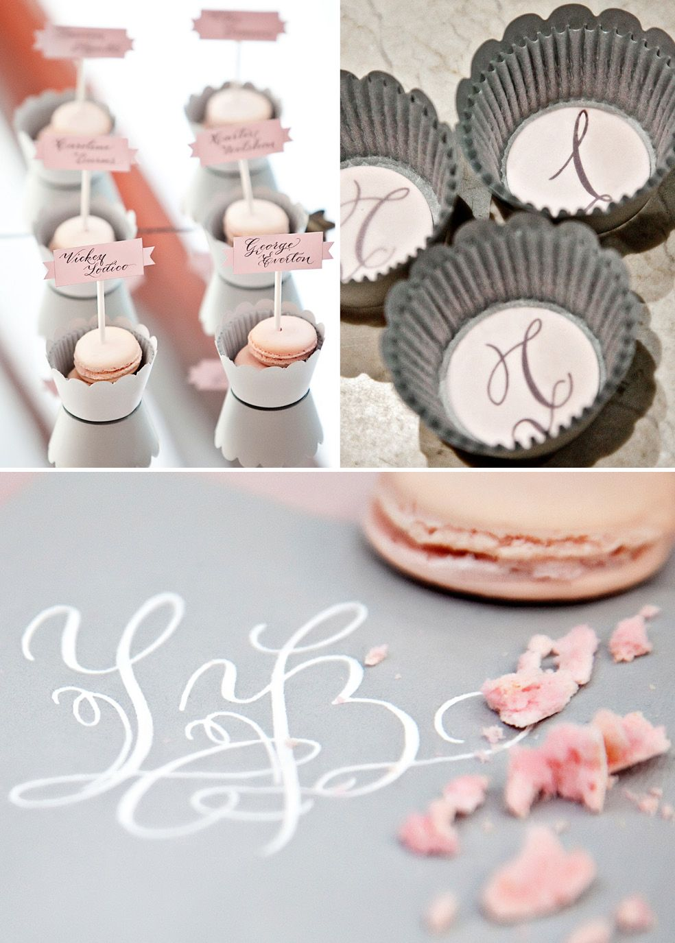 escort cards table assignments and favor..grey and blush!   Our ...