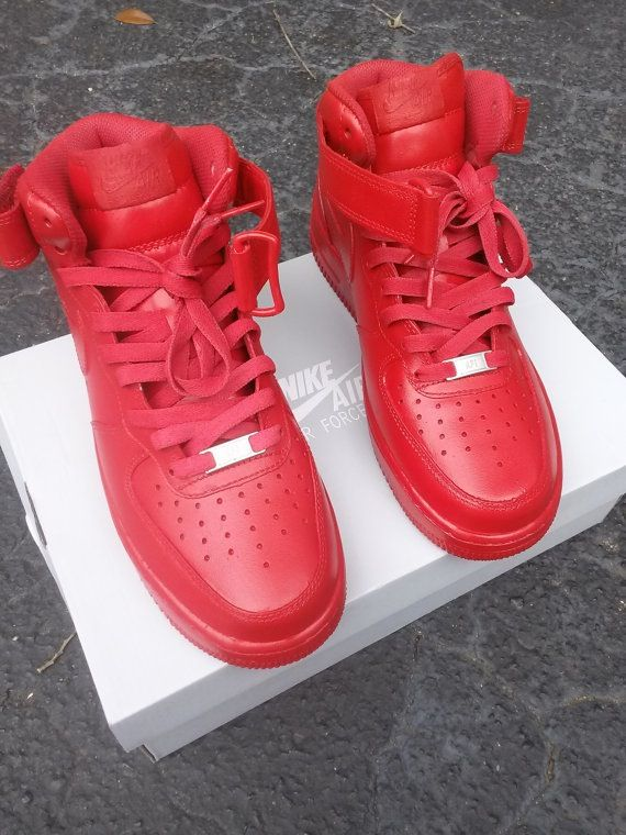 Condition: Brand NewNike Air Force 1 Customized to All Red