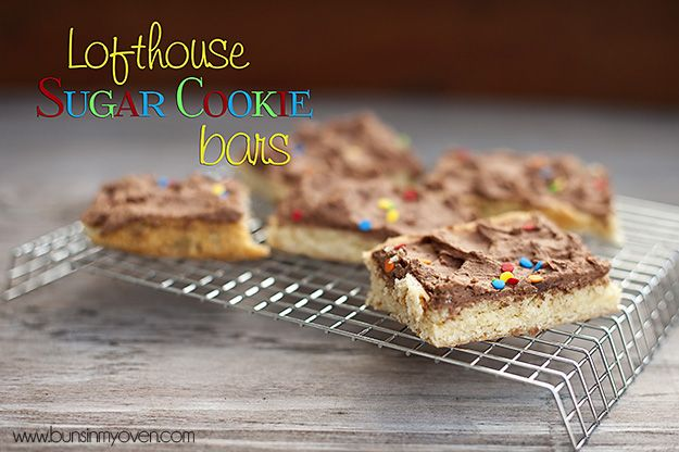 Lofthouse bars with chocolate frosting?  Oh Yeah!