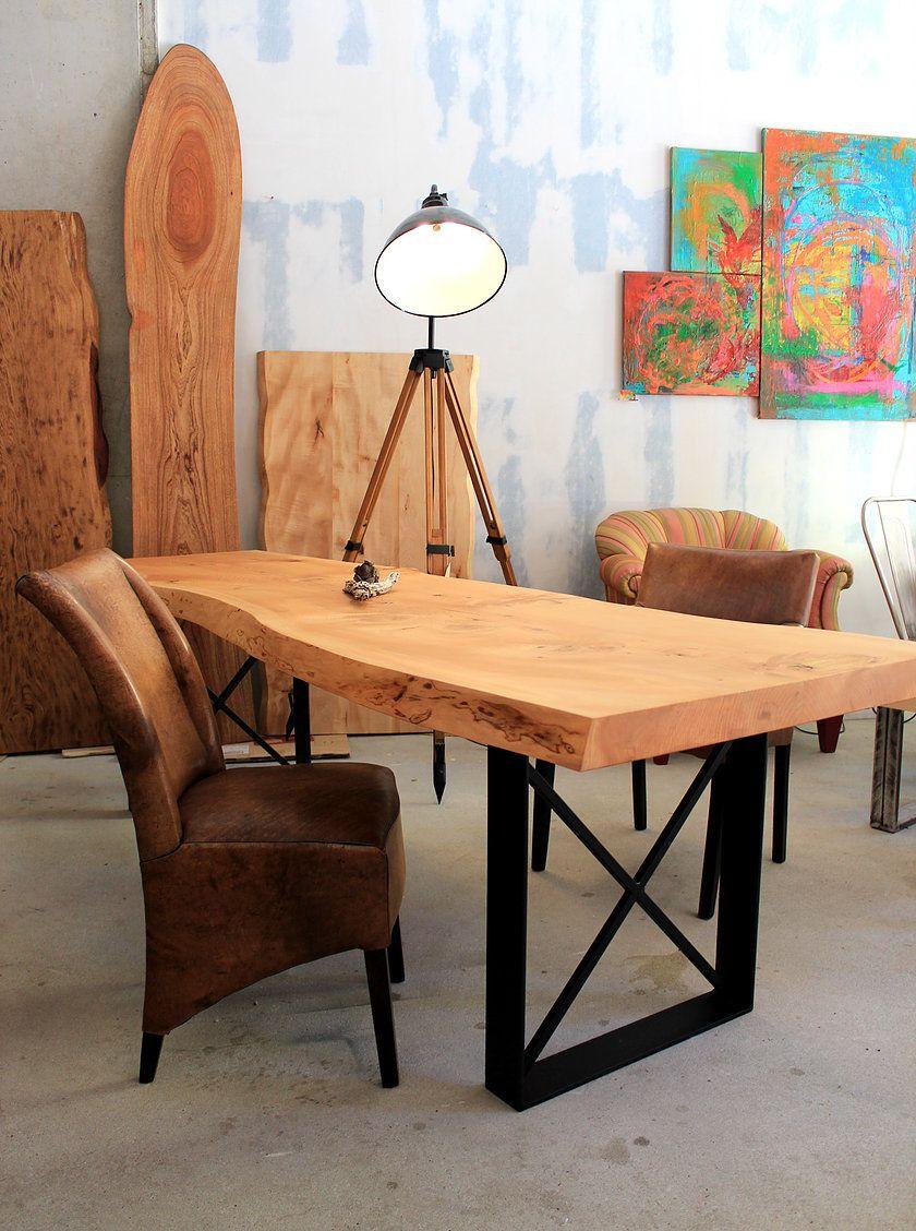 Holzwerk Hamburg esstisch massivholztisch holztisch nach maß naturkante unverleimt
