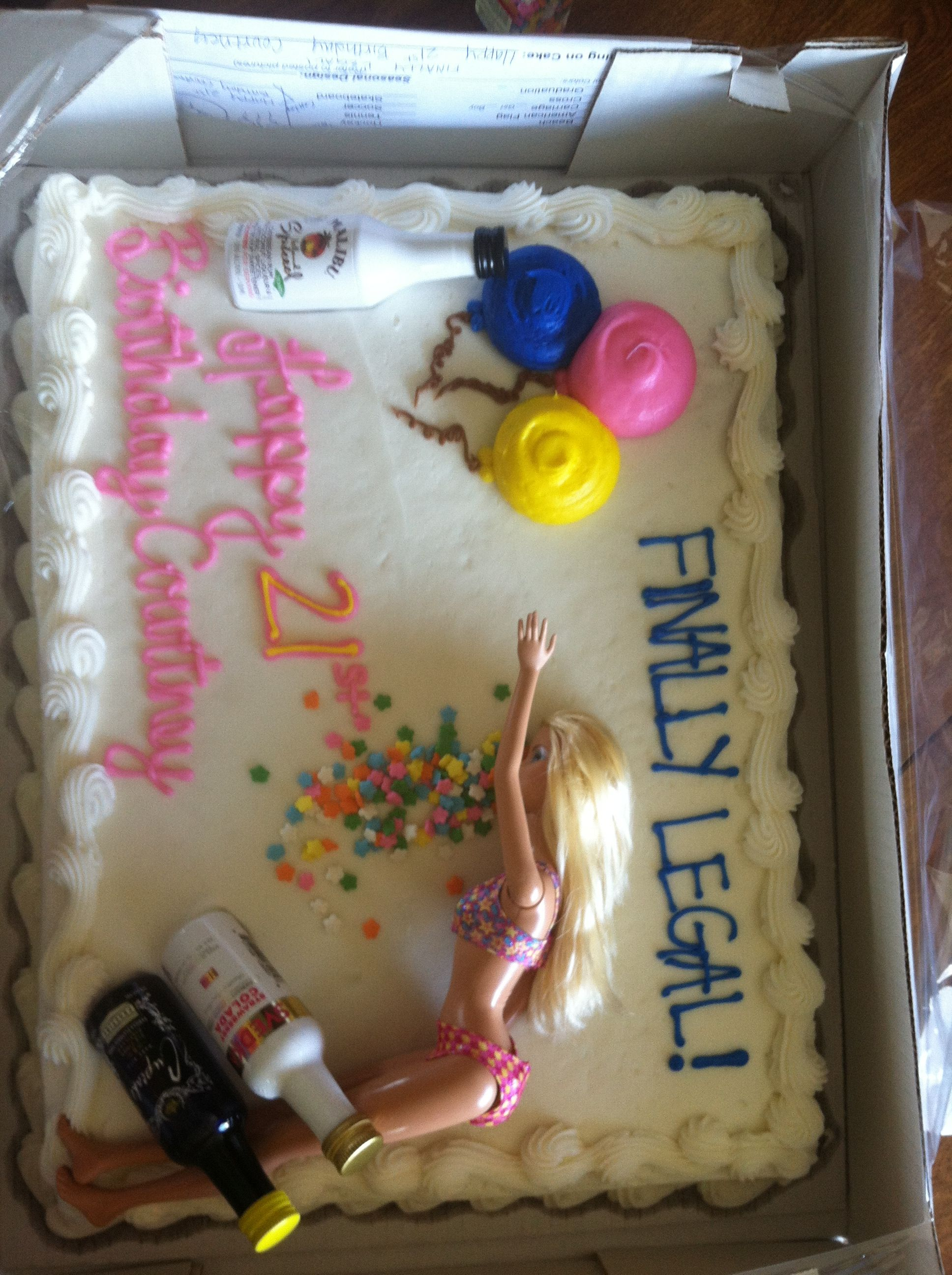 Drunk Barbie Cake For Soon To Be Sister In Laws 21st Bday