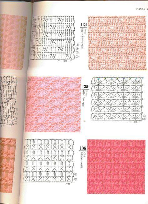 MUCHAS VARIEDADES DE PUNTOS A CROCHET   Patrones Crochet ...