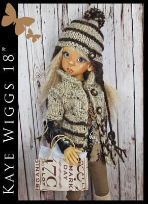 "OOAK Handmade Outfit Boots for Kaye Wiggs 18"" MSD by Maggie and Kate Create 