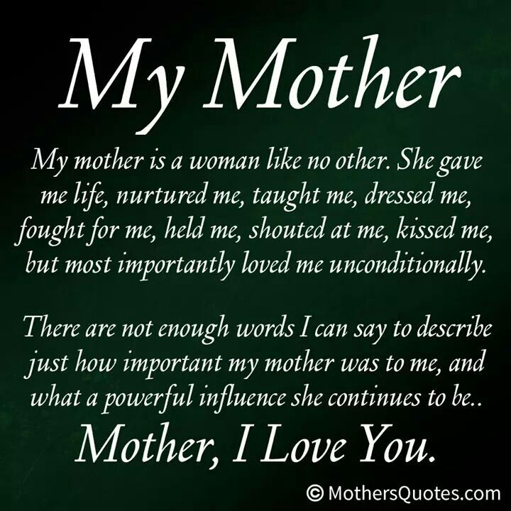 My mother is my blessed gift