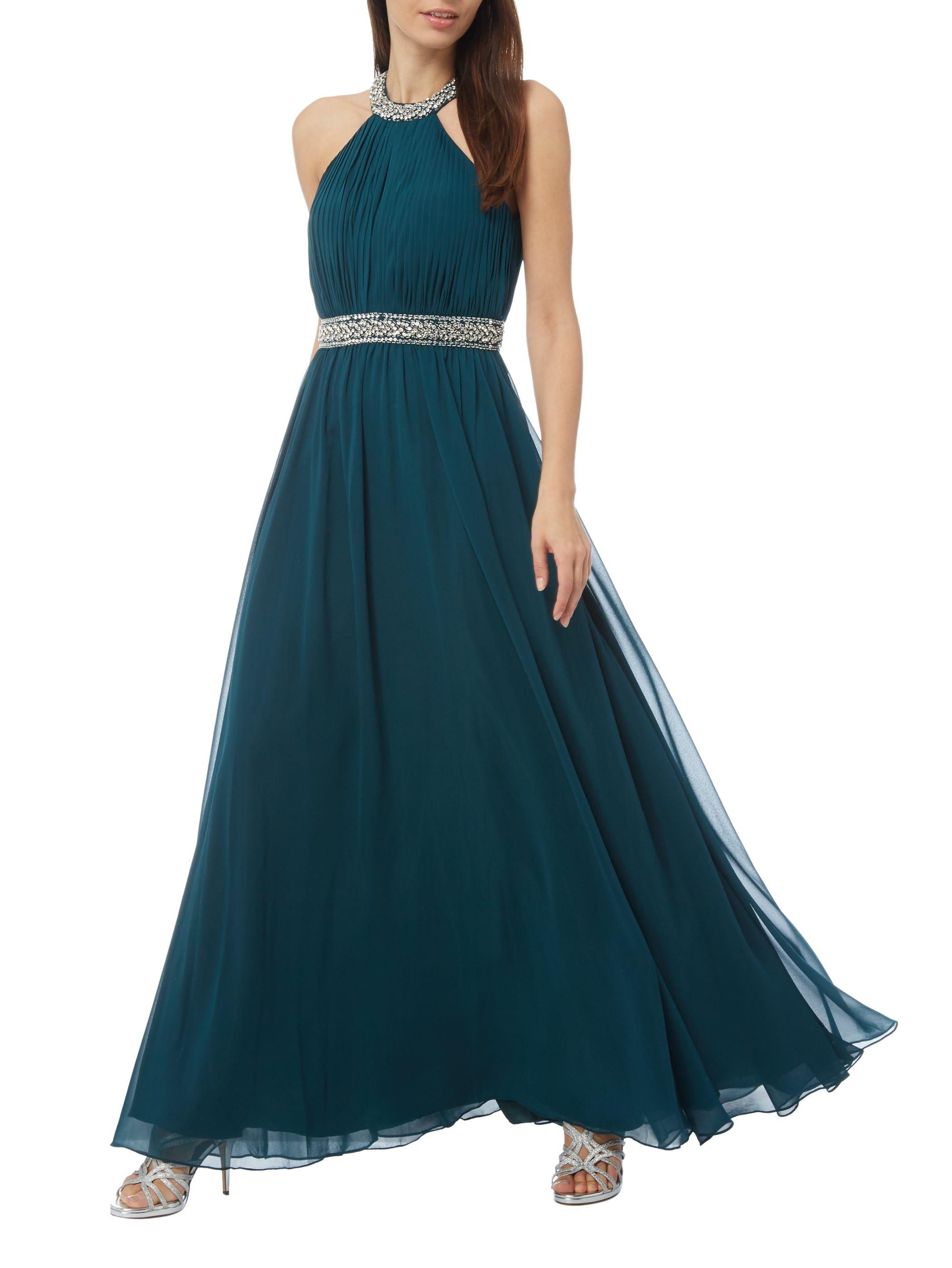 Abendkleid mit geschmücktem Collierkragen  Abendkleid, Kleider