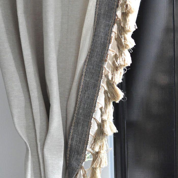 Anthro Inspired Jute Tassel Trim Curtains Ikea Hacks And