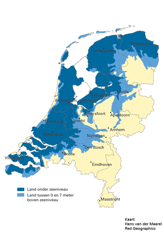 The Netherlands, 2136 AD | Climate Change in 2019 | Map, Netherlands ...