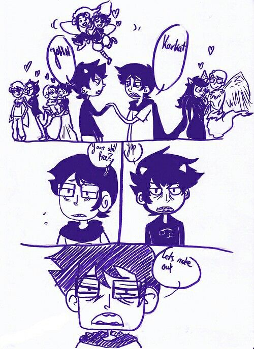 This is how Karkat x John started.
