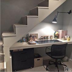 under stairs office. Yazi\u0027s Under-stairs Desk Space Under Stairs Office