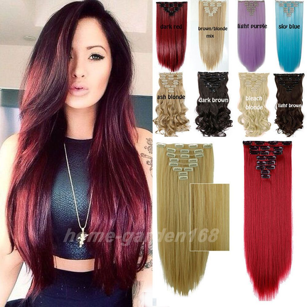 26 Inches 66cm 8pcsset 100 Real As Human New Hair Extensions 18