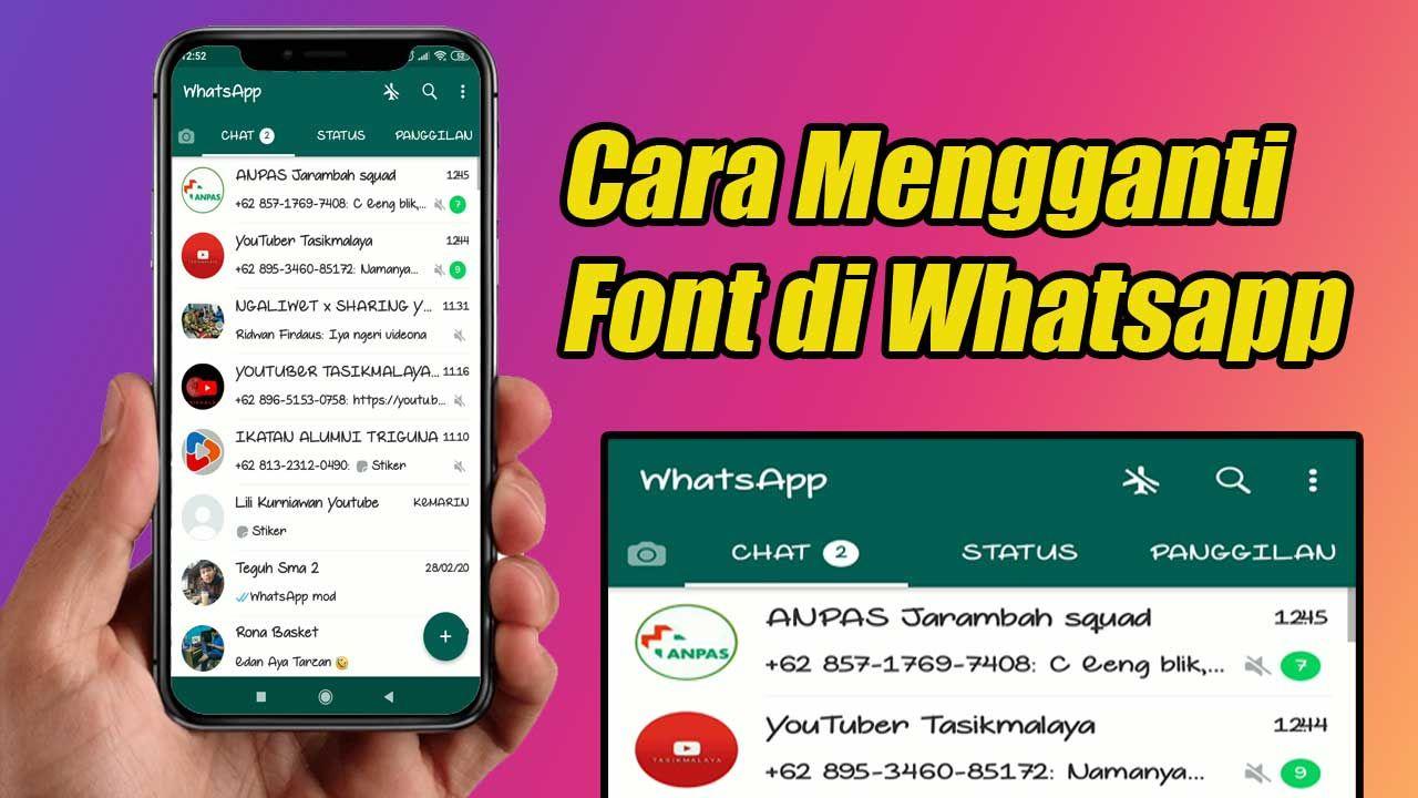 Cara Mengganti Font Gaya Tulisan Di Whatsapp Tulisan