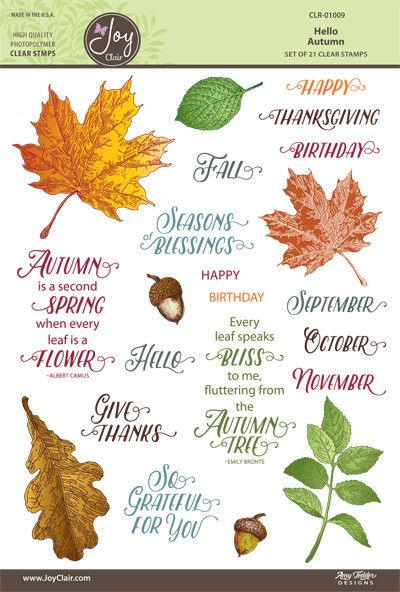Autumn & Fall Designs Clear Stamps by Joy Clair