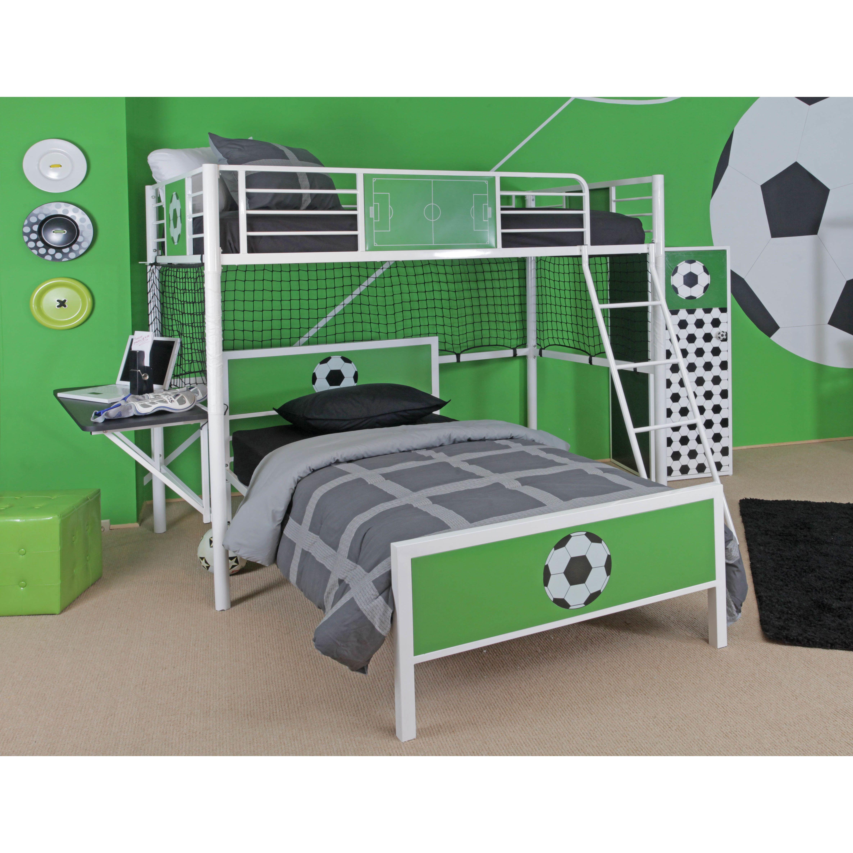 Powell Goal Keeper Twin Loft Bed with Desk Twin loft bed