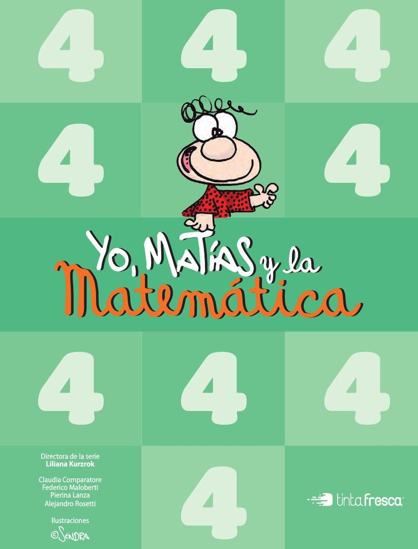 Yo, Matías y la Matemática 4 Matematicas, Libros de