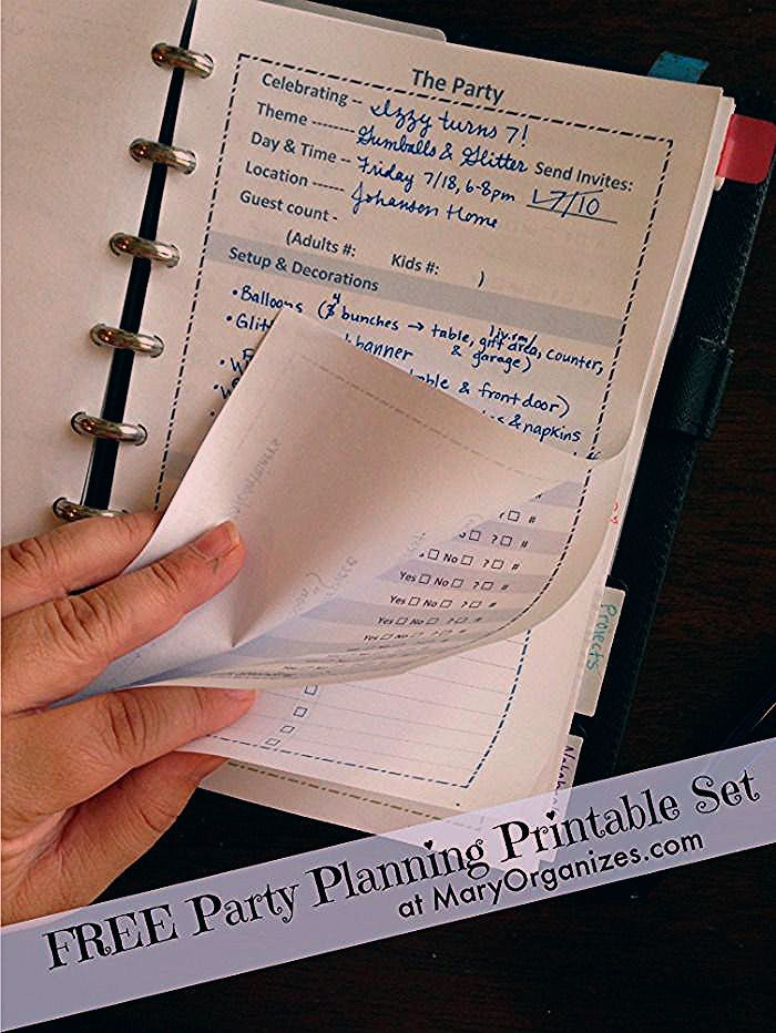 Photo of Party Planning Printable