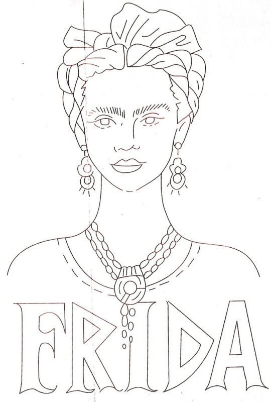 Free Frida Kahlo Embroidery Patterns … | Fun Crafts | Pinte…