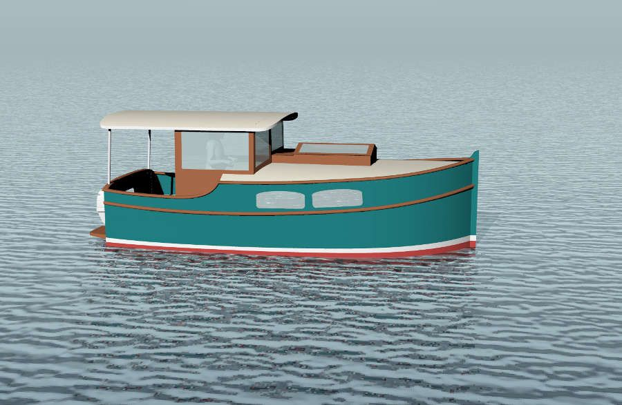 Small Self-Powered House Barges and Shanty Boats Under 29′