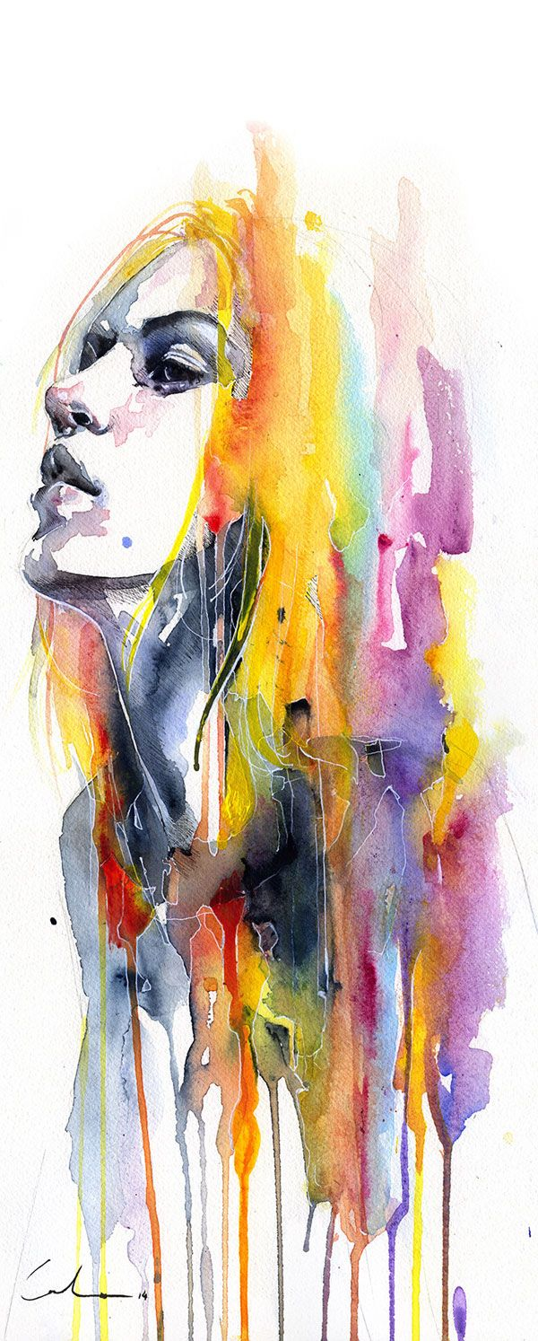 Sunshower\' by Agnes Cecile - Fine Art Prints available at Eyes On ...