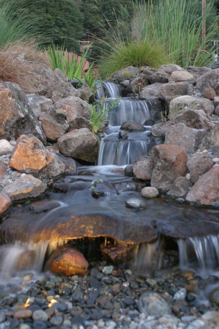 Wasserfall Garten Hinterhof Inspirierende Gartenideen